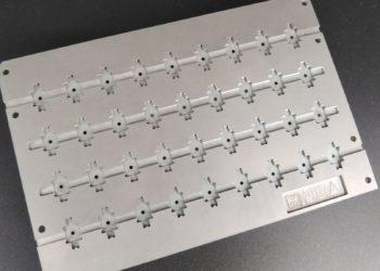 エッチング加工 治具、モータコア、ピン立て レーザースポット溶接